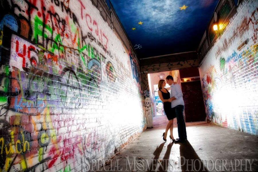 Downtown Ann Arbor MI engagement photograph