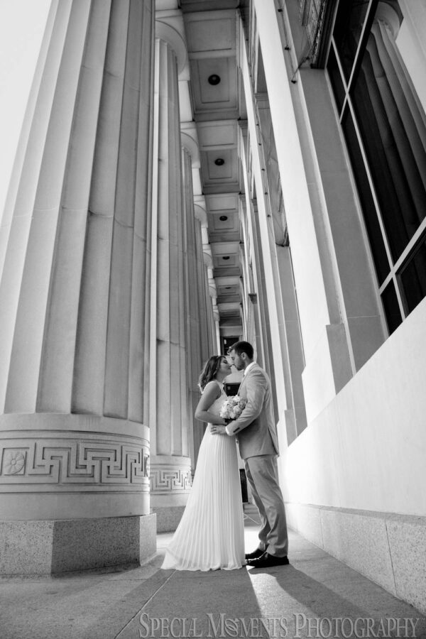 Downtown Ann Arbor MI wedding photograph