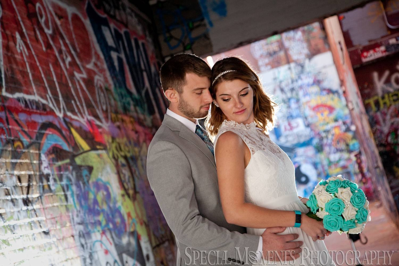 Downtown Ann Arbor MI wedding photograph