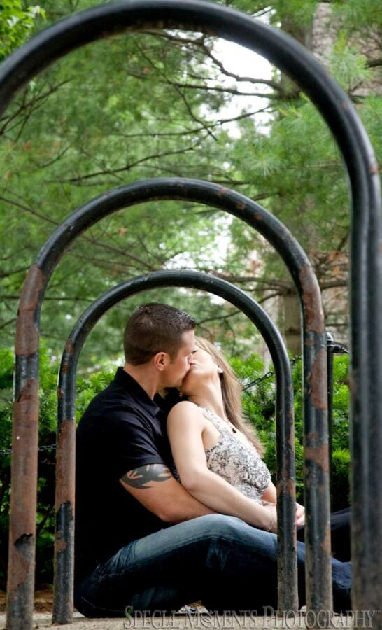 Law Quad Ann Arbor MI engagement photograph