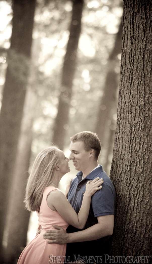 Wagner Park Royal Oak MI engagement photograph