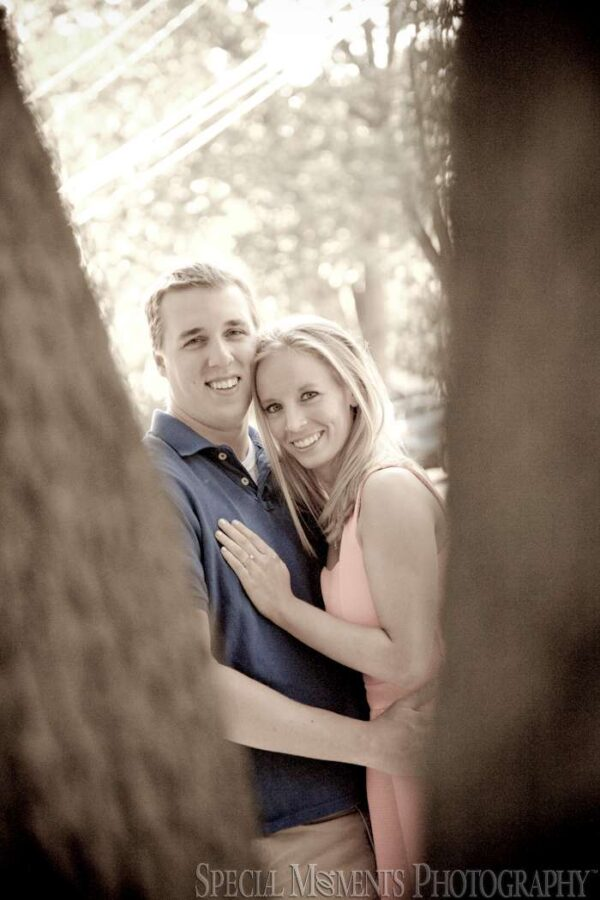 Wagner Park Royal Oak MI engagement photograph