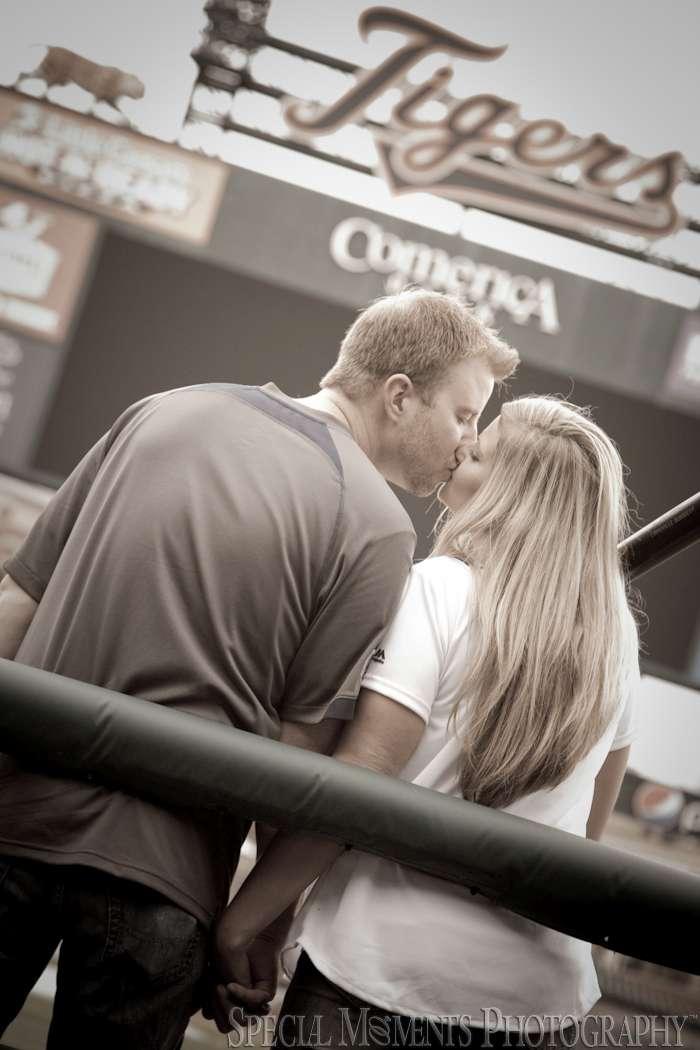 Comerica Park Detroit MI Engagement photograph