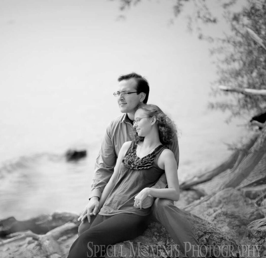 Newport MI Beach engagement wedding photograph
