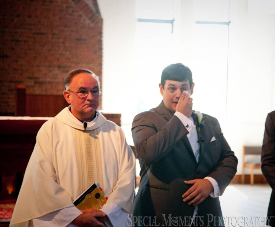St. Andrew Catholic Saline MI wedding photograph