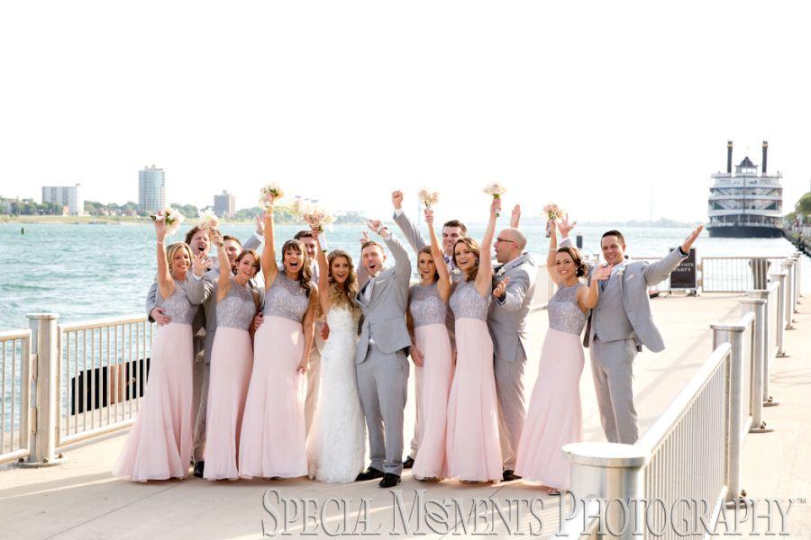 Waterview Loft Port Detroit MI wedding photograph