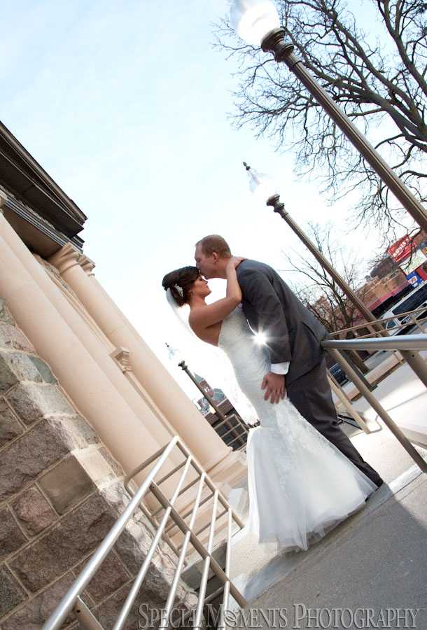 Downtown Howell MI wedding photograph