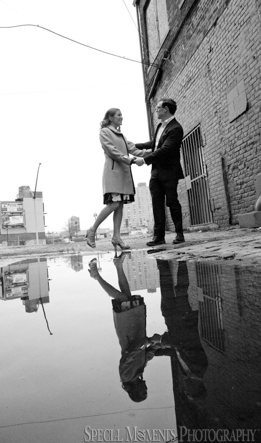 Downtown Detroit MI Engagement photograph