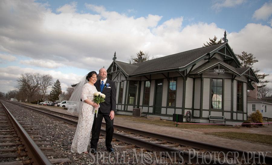 Chelsea Depot Train Station wedding photograph