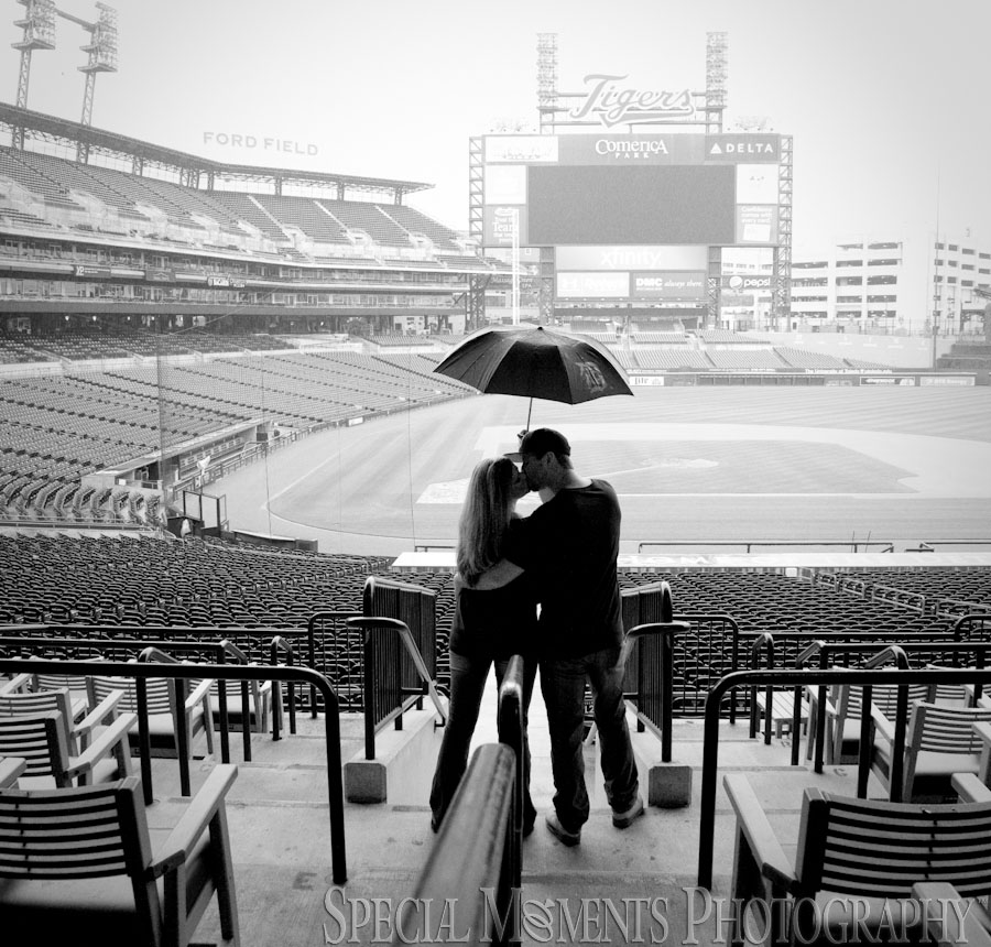 Comerica Park Detroit MI Engagement photograph