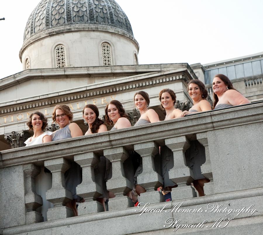 National Gallery London England Trafalgar Square wedding photograph
