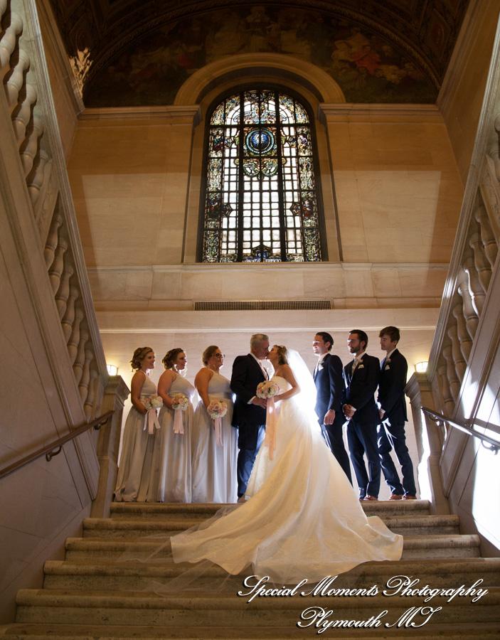 Detroit Library Detroit MI wedding photograph