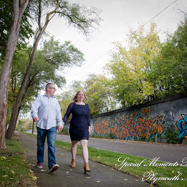 Michelle & Sean: Downtown Detroit Engagement Photos, DIA, Guardian Building, River-walk & Z-Lot