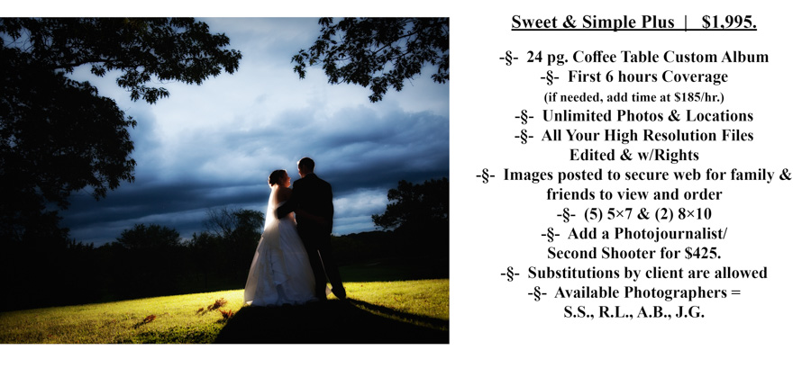 SS Plus Special Moments Photography Pricing wedding photograph