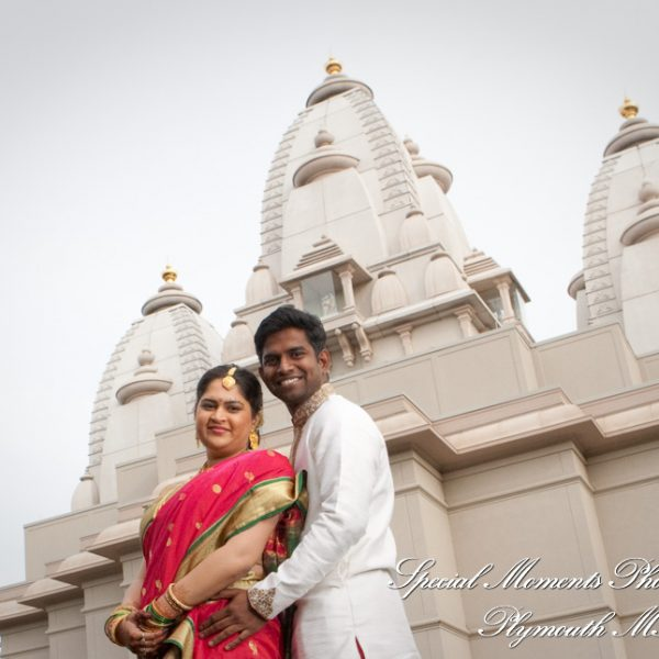 Vinita & Mubarak: Bharatiya Temple Troy Wedding & Troy Marriott Reception