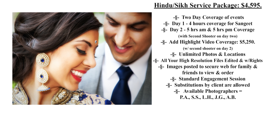 Hindu/Sikh Special Moments Photography Pricing wedding photograph