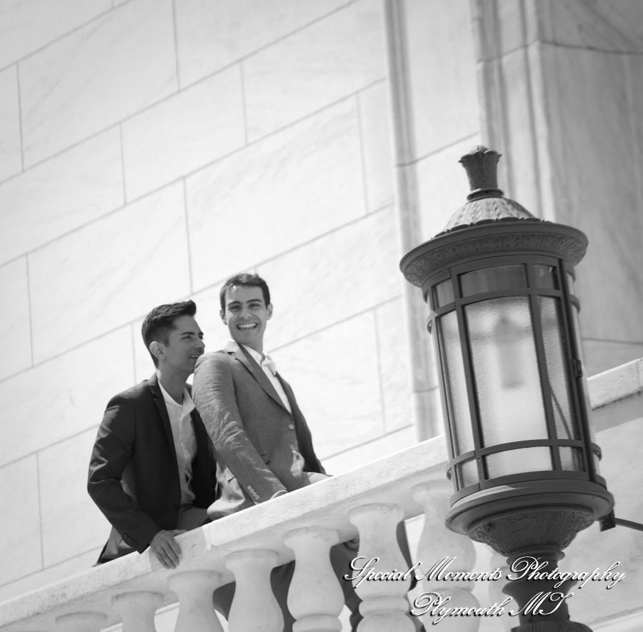 Downtown Detroit DIA & Detroit Library wedding photography