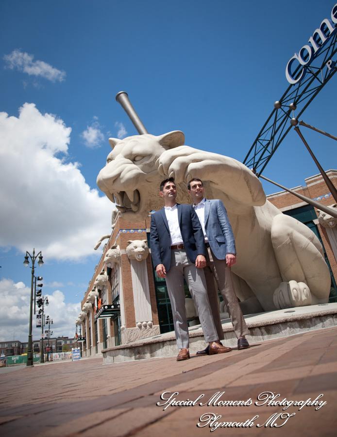 Tiger Stadium Detroit MI wedding Photography