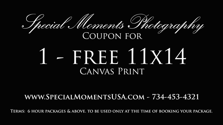 Special Moments Photography wedding photograph coupon