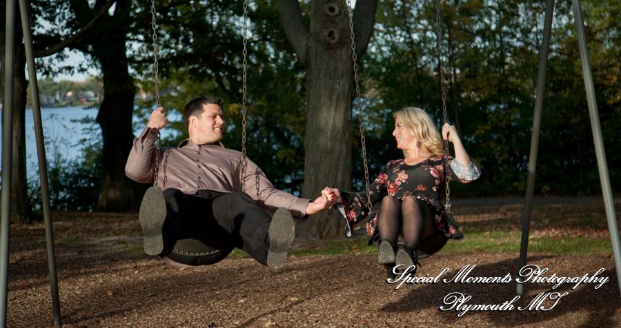 Marshbank Park West Bloomfield MI fall engagement photos