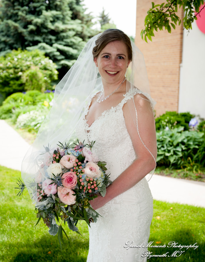 First United Methodist Brighton MI wedding photograph
