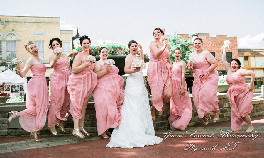 Downtown Northville MI wedding photograph