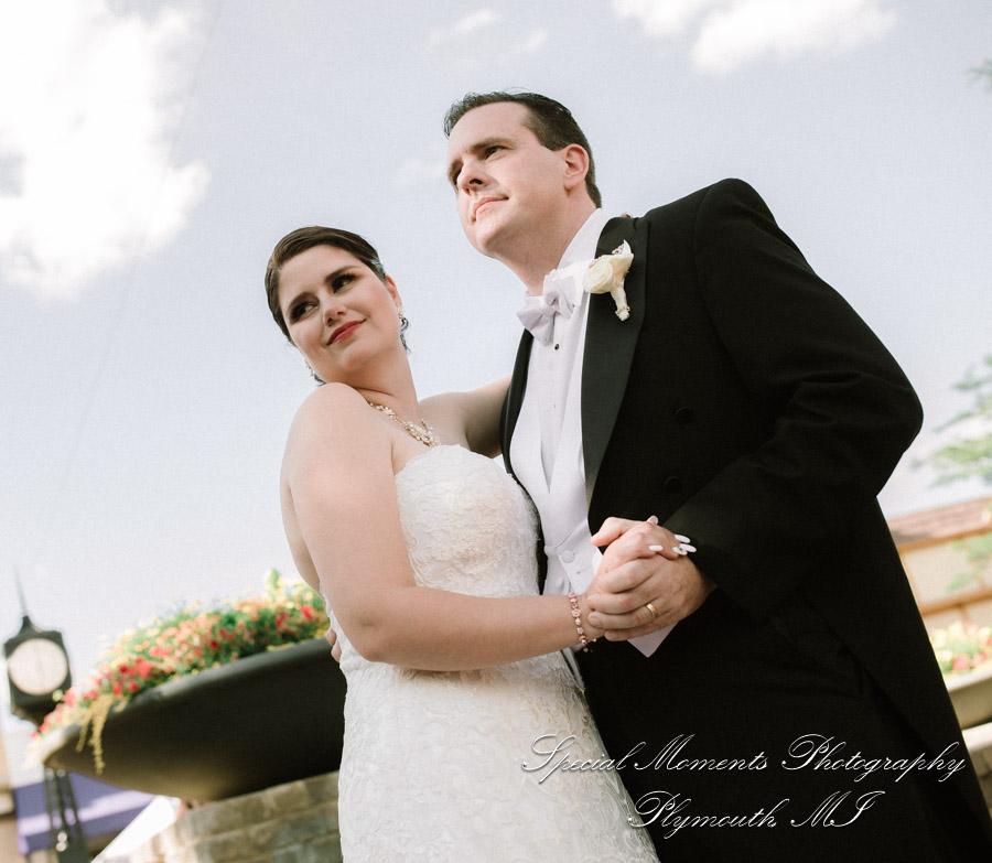 Downtown Northville MI wedding photograph