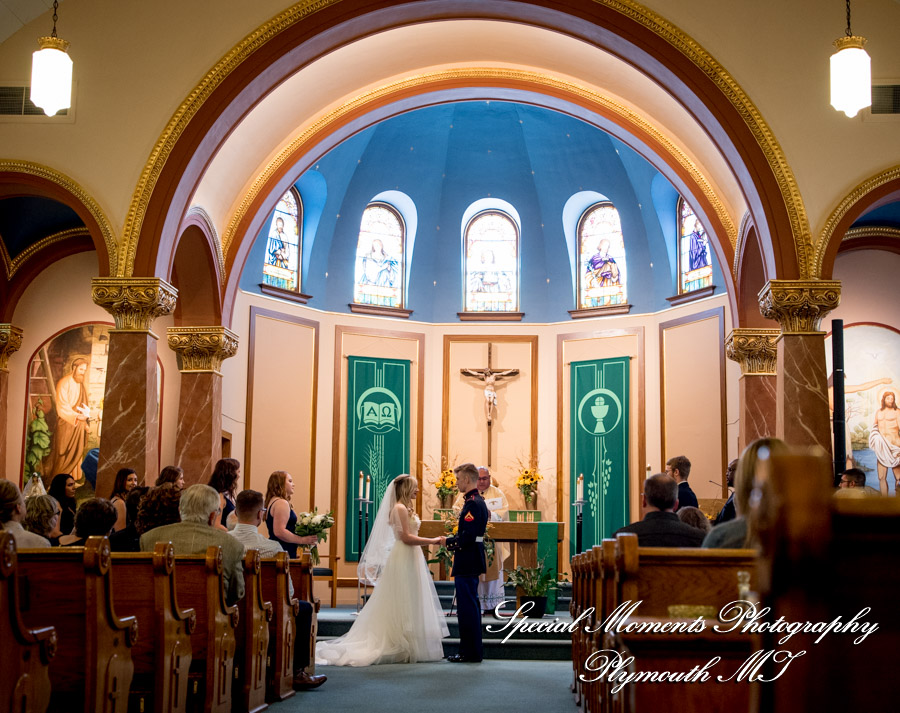 Sts James, Cornelius & Cyprian Church Leslie MI wedding photograph