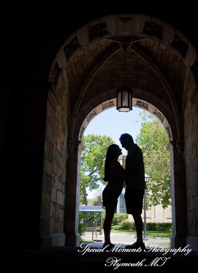 Law Quad Ann Arbor MI engagement photograph