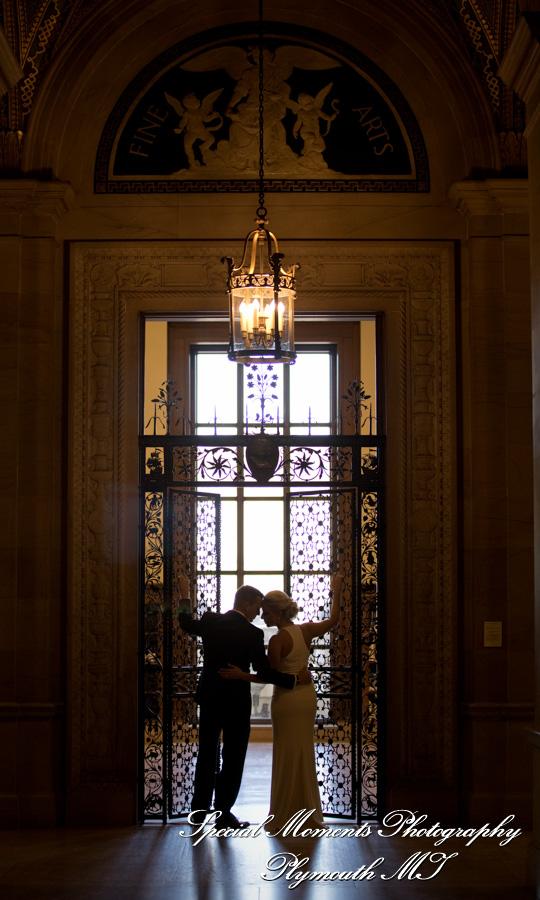 Detroit Public Library Detroit MI wedding photograph