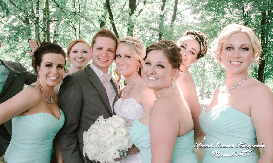 Sycamore Hills Golf Macomb MI wedding photograph