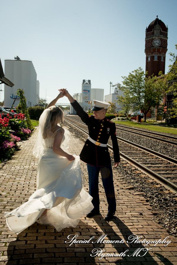 Chelsea Depot Train Station Chelsea MI wedding photograph