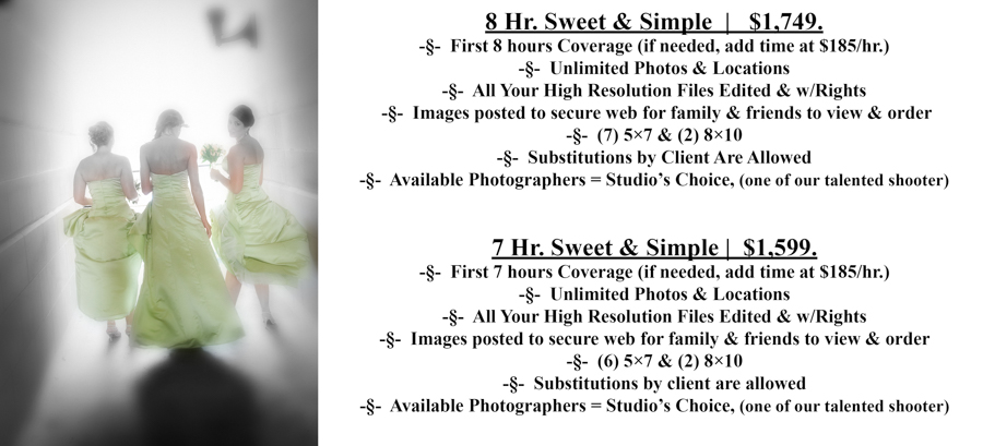 SS #7-8 Special Moments Photography Pricing wedding photograph