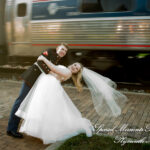 Chelsea Depot Train Station Chelsea MI wedding photograph