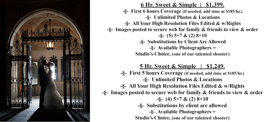 SS #5-6 Special Moments Photography Pricing wedding photograph