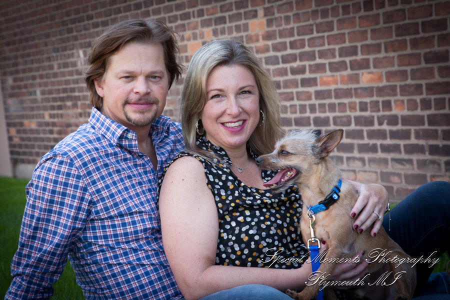 Detroit School of Rock Royal Oak engagement photograph