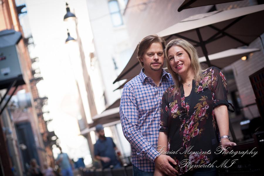 Z Lot Detroit MI engagement photograph