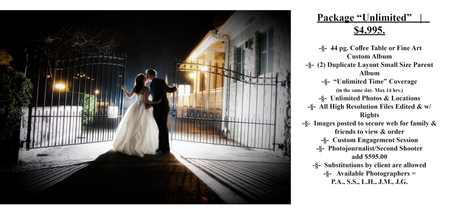 Unlimited Special Moments Photography Pricing wedding photograph