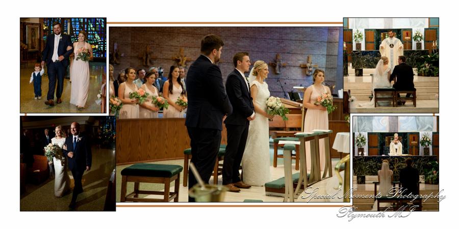 Our Lady of Sorrows Farmington MI wedding photograph