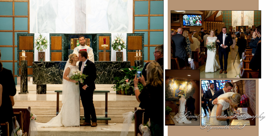 Our Lady of Sorrows Farmington MI wedding photograph