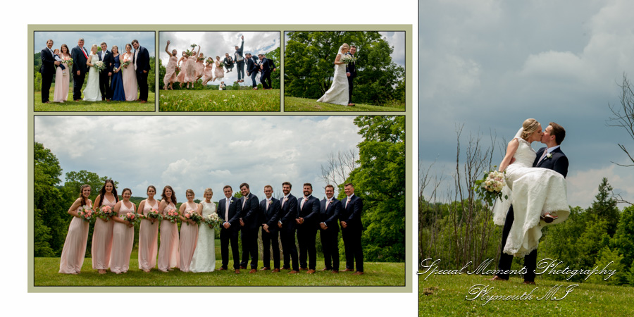 Heritage Park Farmington MI wedding photograph