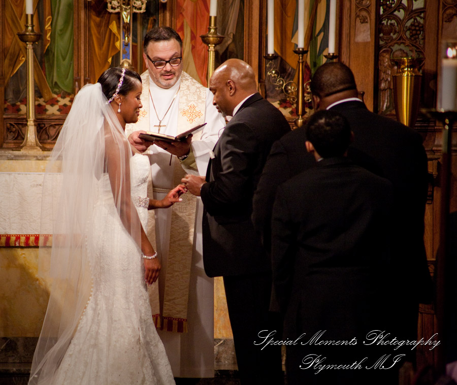 Historic Trinity Church Detroit MI wedding photograph