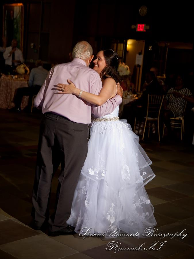 Michigan Union Pendleton Ballroom Ann Arbor MI wedding photograph