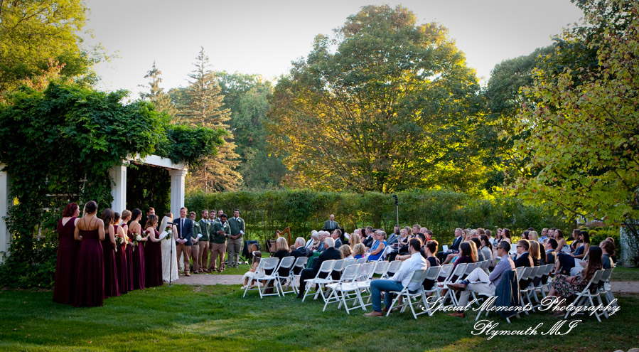 Wellers East Garden Saline MI wedding photograph