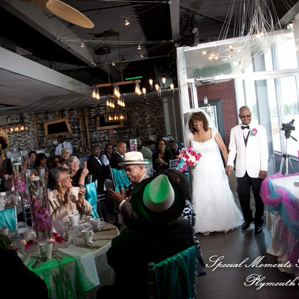 Barbara & Frederic's wedding at The Roostertail Detroit in The Club Room & outside on the patio.