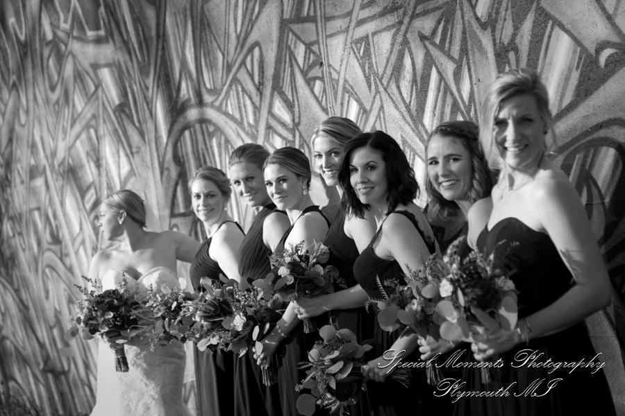 Train Station Detroit MI wedding photograph