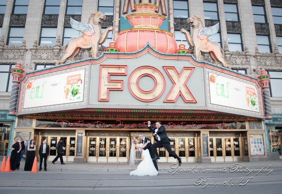 Fox Theater Detroit MI wedding photograph