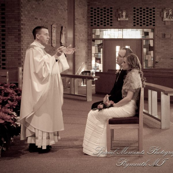 Matthew & Jayme's Micro Wedding at Our Lady Queen of Martyrs Beverly Hills MI