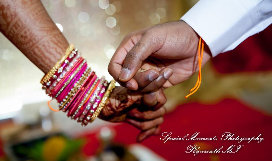 The Hindu Temple Canton MI wedding photograph
