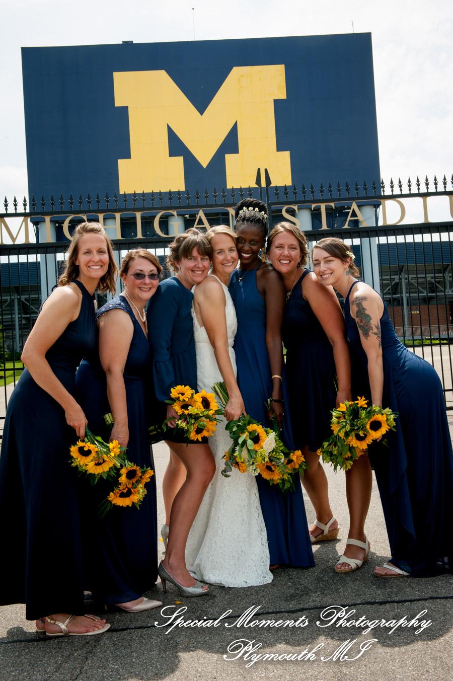 The Big House Ann Arbor MI wedding photograph